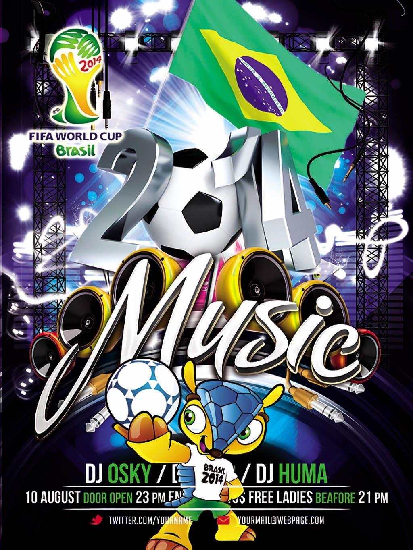 世界杯足球酒吧海报