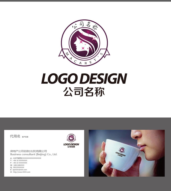 美容美发logo标志设计 (1024x1142)-美容美发logo设计模板下载图片