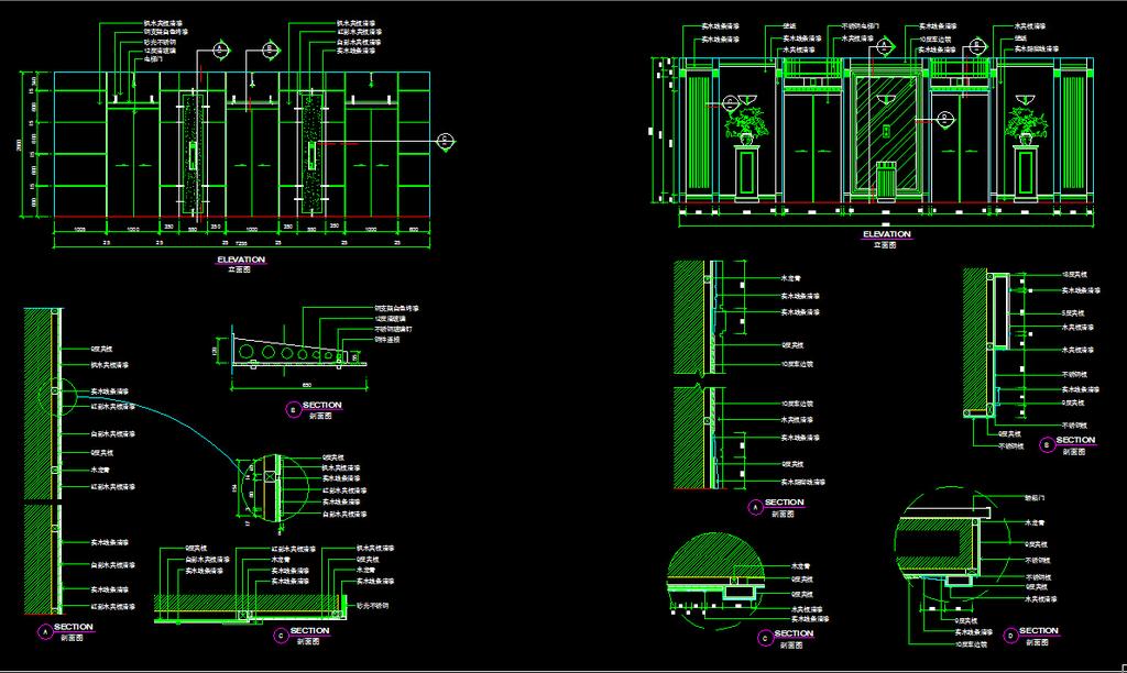 cad结构图 cad图  电梯天花布置图  cad素材 cad地图铺装图 电梯厅