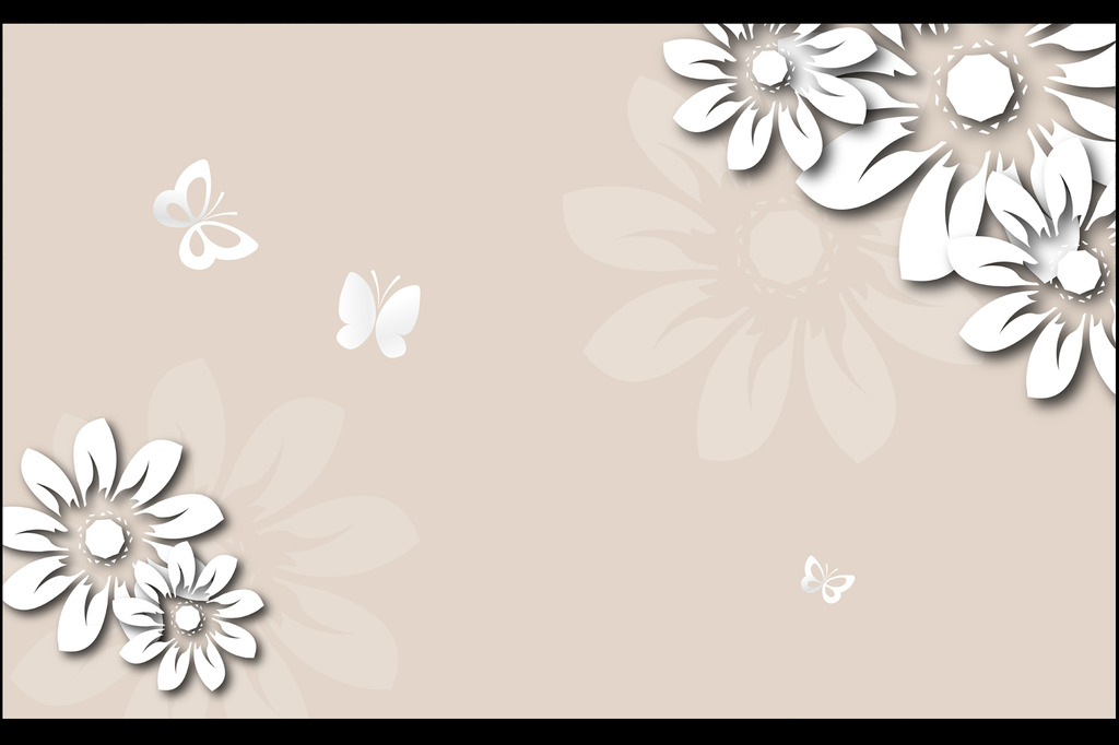 墙绘 手绘花朵