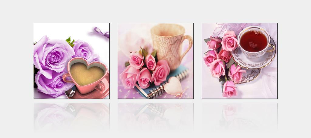 高清爱情玫瑰花装饰画图片