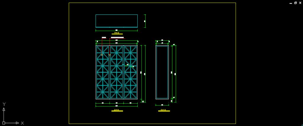 室内设计之卧室实木衣柜cad设计图模板下载