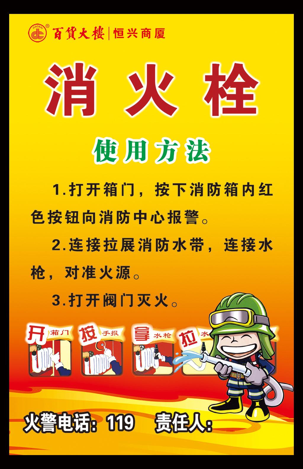 消火栓使用方法展板源文件下载