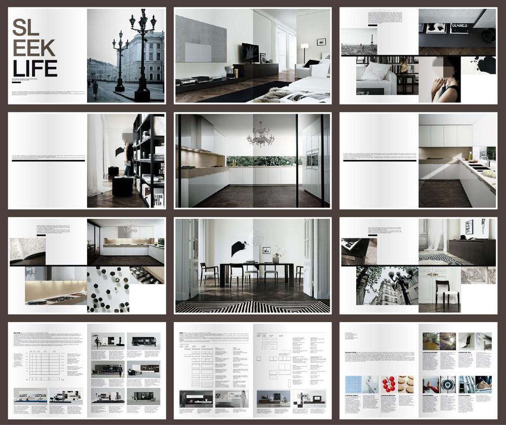 家具家装家居企业产品宣传画册设计模版模板下载(图片