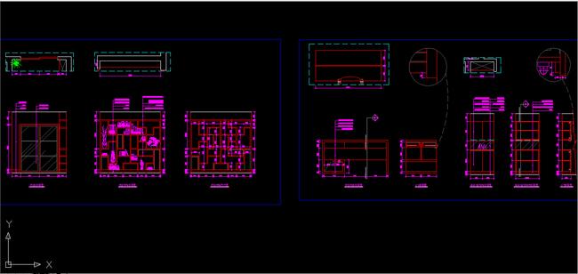 农村家庭客厅电路插座施工图