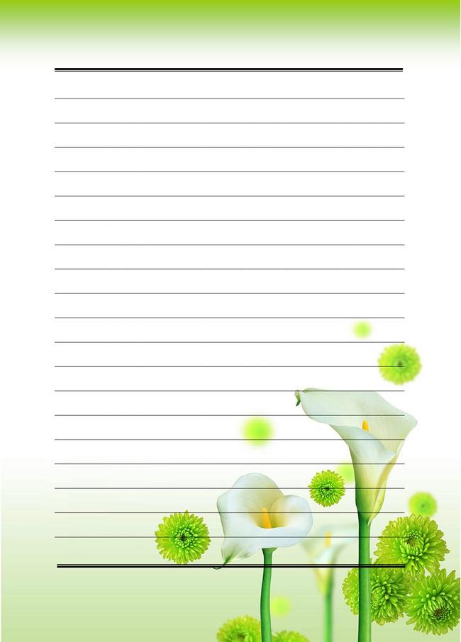 马蹄莲信纸模板下载 马蹄莲信纸图片下载