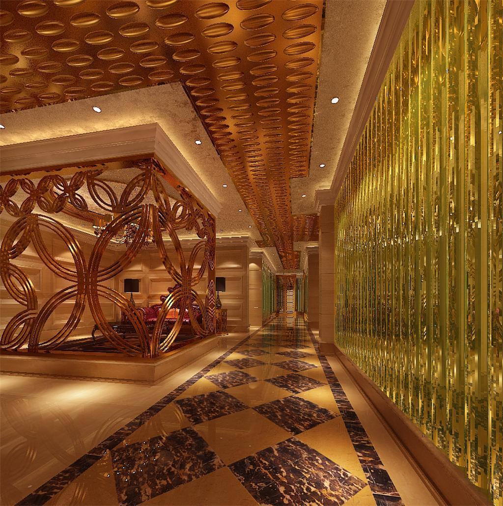 设计 时尚 模型/[版权图片]KTV酒吧酒店过道走廊3DMAX模型下载