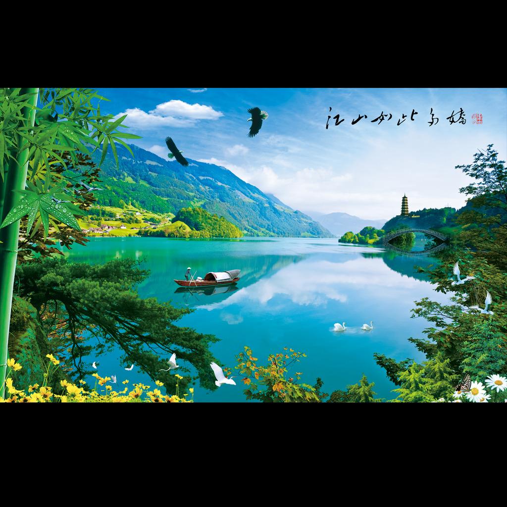 山水画山水风景模板下载(图片编号:12144495)图片