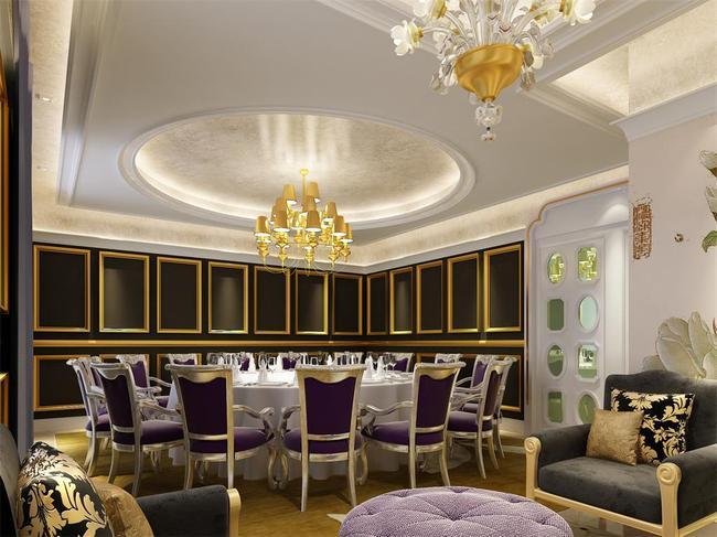 酒店酒楼餐厅欧式包厢包间3dmax模型图片