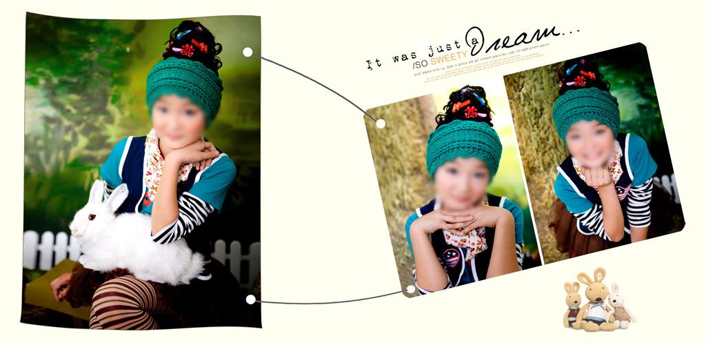 儿童模板儿童摄影儿童相册模板儿童杂志册