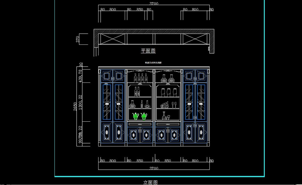cad书柜设计图纸模板下载(图片编号:12152122)