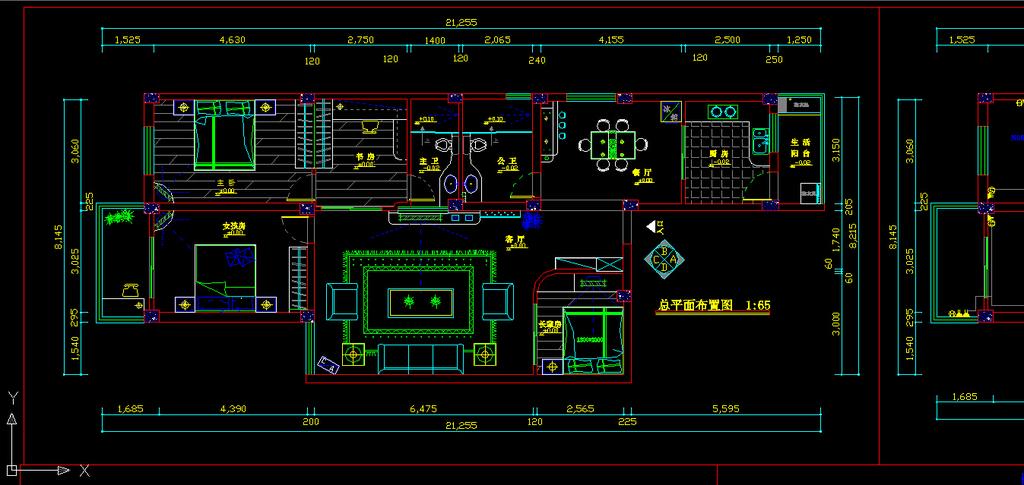 室内装修电路cad施工图纸设计下载模板下载