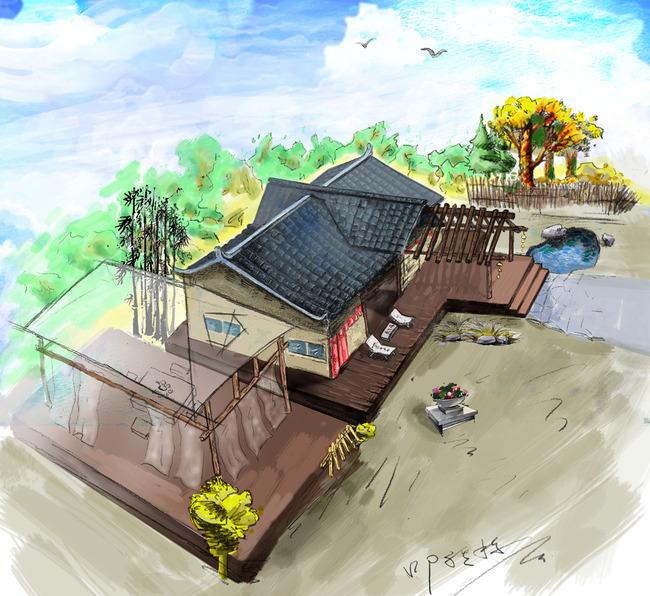 中国风中式建筑园林