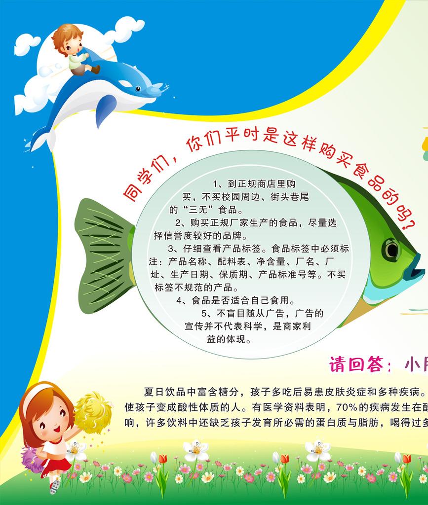 中小学幼儿园食品安全知识宣传栏