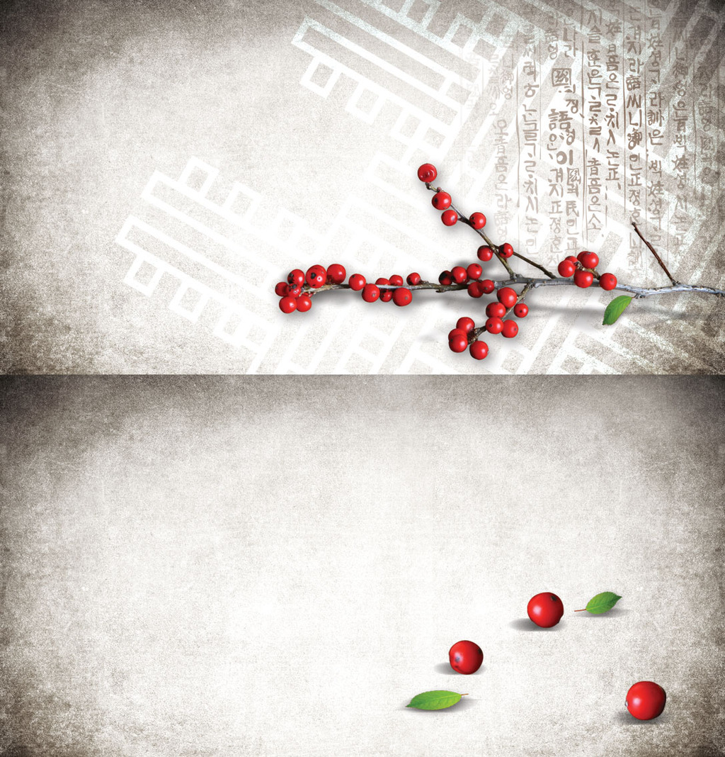 红豆中国风素雅海报背景图片