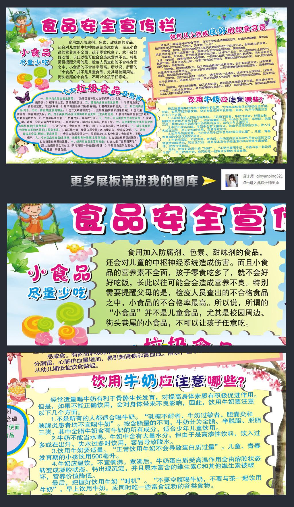 小学幼儿园食品安全知识教育宣传栏
