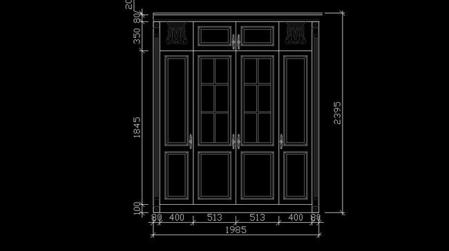 cad图库 家具设计图 柜子图纸 > 实木衣柜衣帽间图纸
