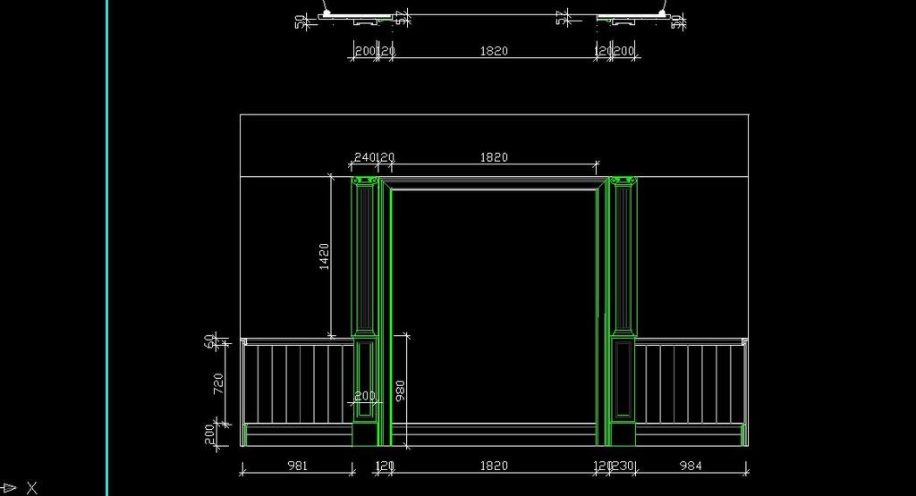 家装电路布线图cad展示