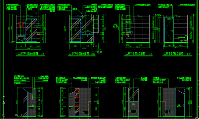 复式楼装修图 cad设计图 室内cad cad家装客厅套图 caddwg图纸平面图图片