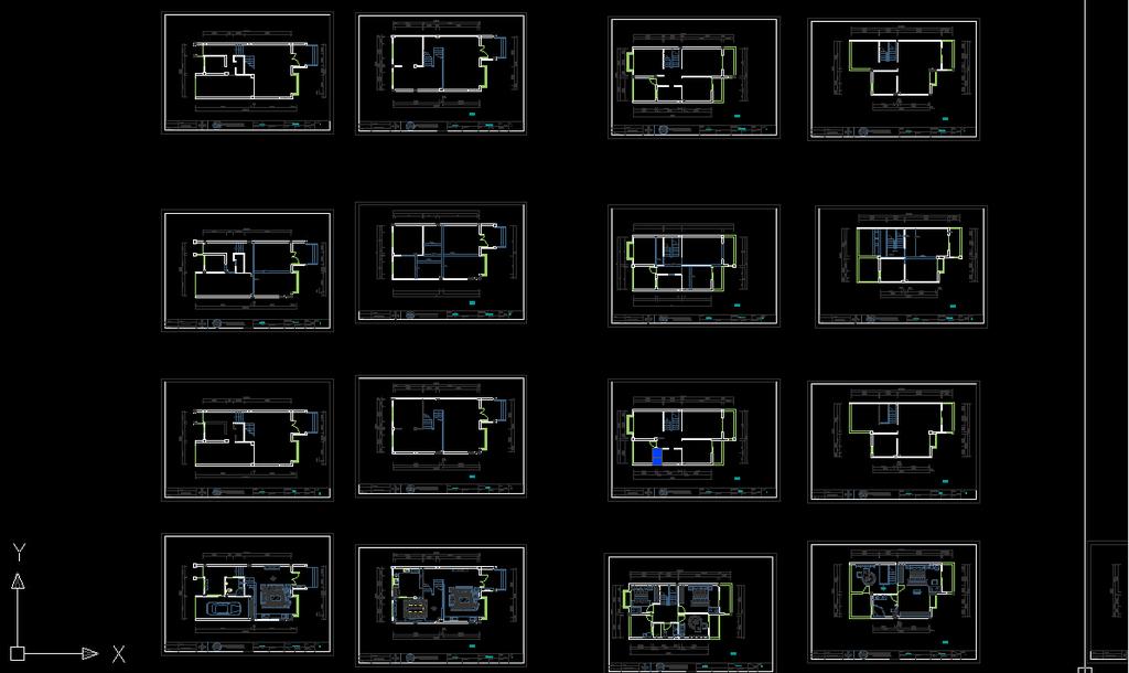 美式别墅csd施工图配实景照片
