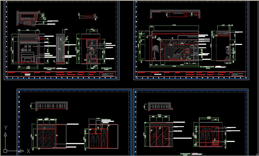 工图,效果图,cad,3d源文件室内设计方案