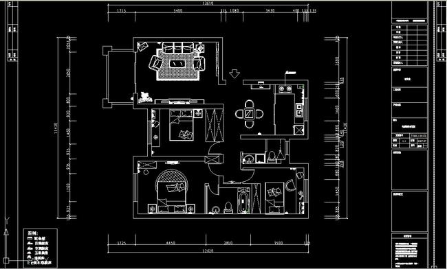 家装cad装修图纸含效果图