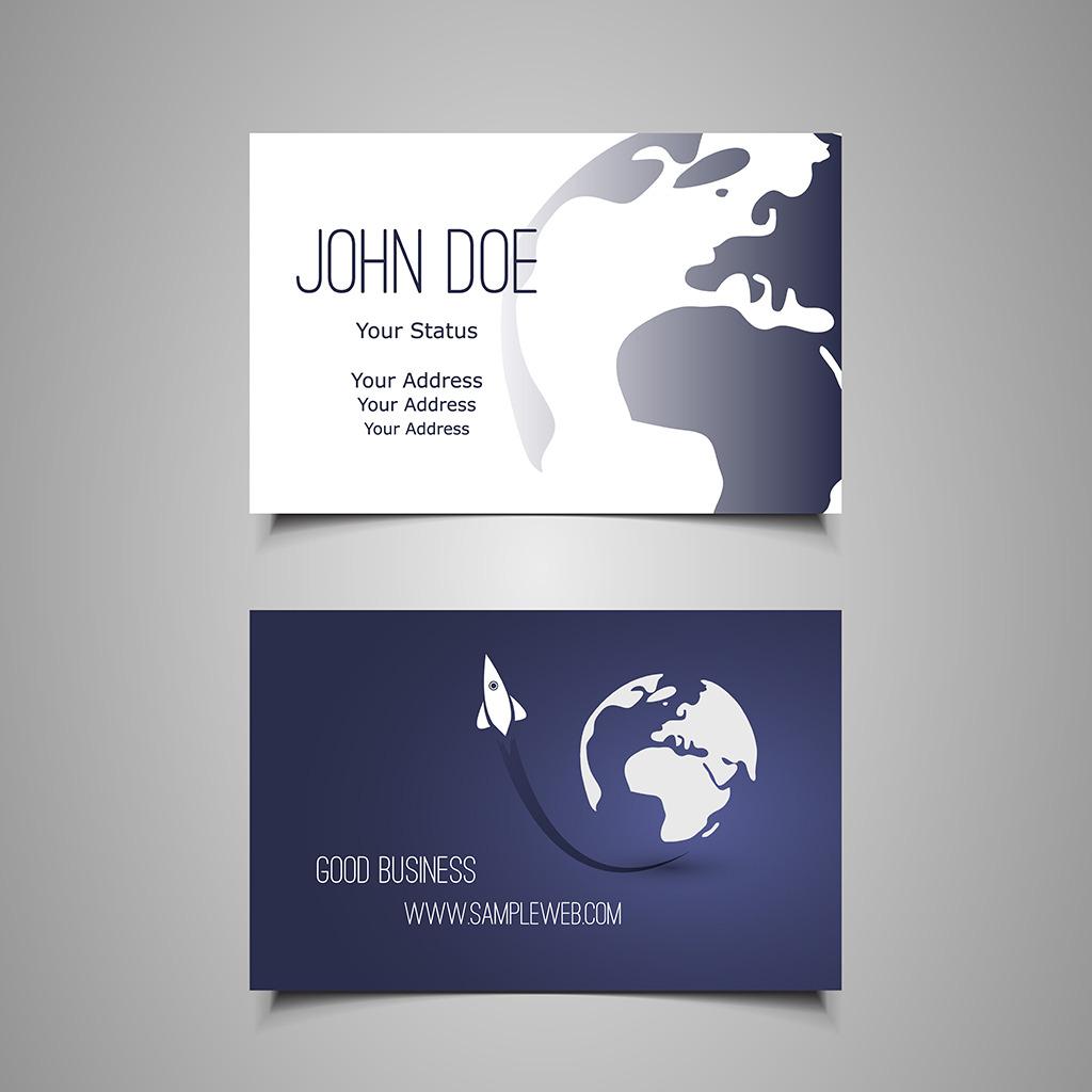 商业名片设计矢量素材模板下载 商业名片设计矢量素材图片下载 商业名