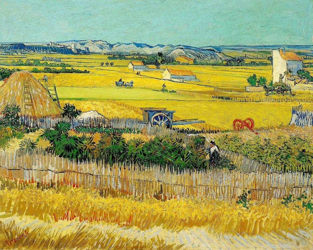 田园风光手绘油画