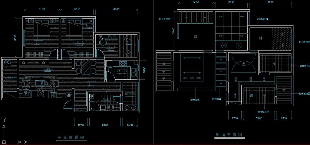 小户型室内装修cad施工图纸设计下载图片下载 家居 家具平面布置图 天
