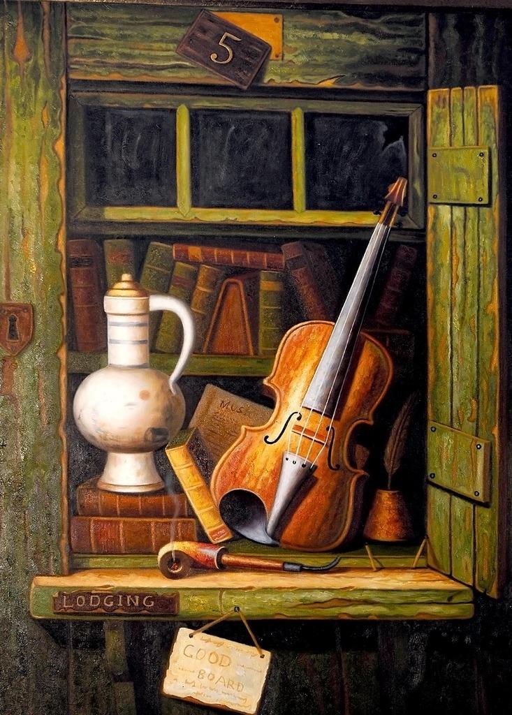 古典欧式风格手绘写实静物油画