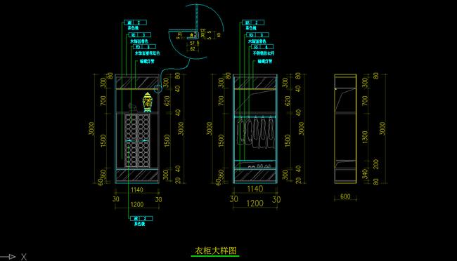 cad衣柜设计图模板下载(图片编号:12164286)