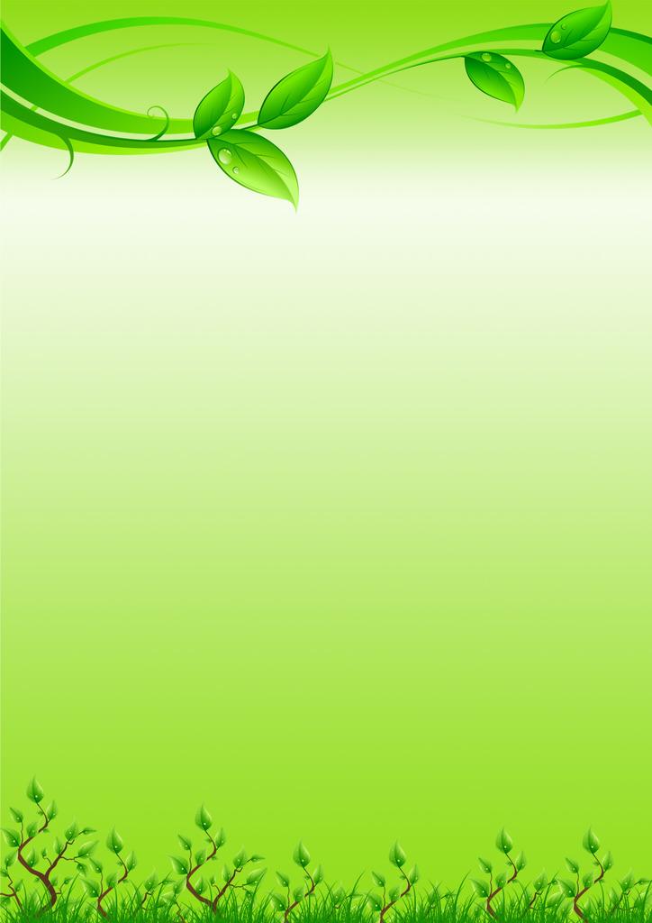 绿色背景 信纸模板