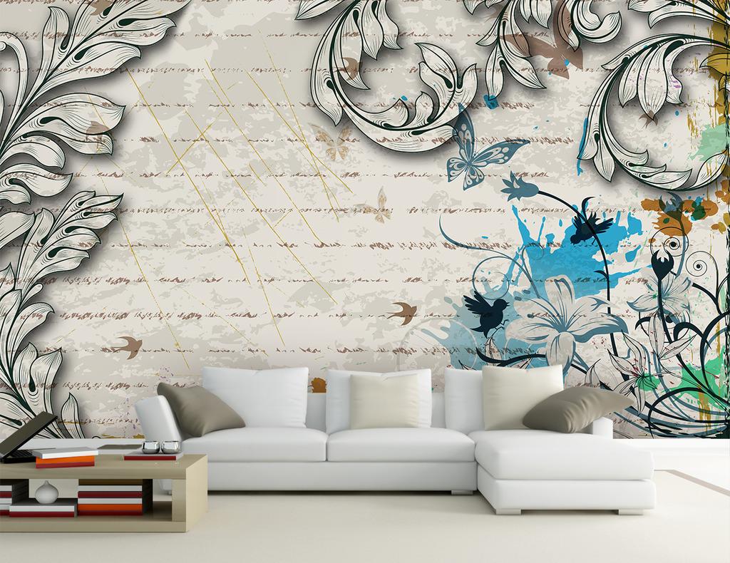 欧式背景墙 电视背景墙 沙发背景墙 欧式花纹 潮流花纹 电视墙 背景墙
