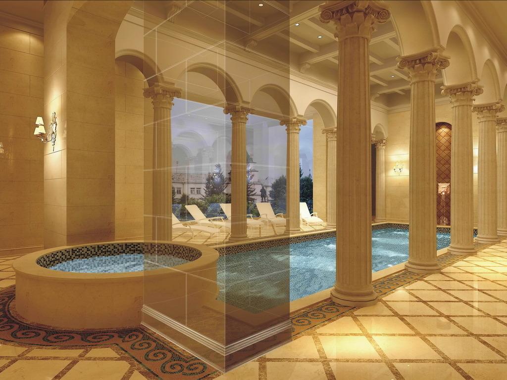 欧式别墅室内设计方案配5张高清效果图模板下载