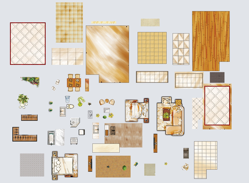 背景墙|装饰画 其他 室内设计 > 高清彩平图图块素材psd图片下载  下