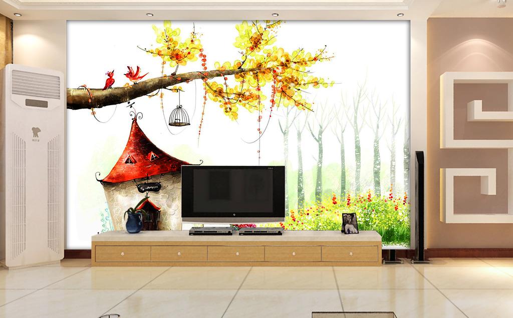 梦幻树电视背景墙