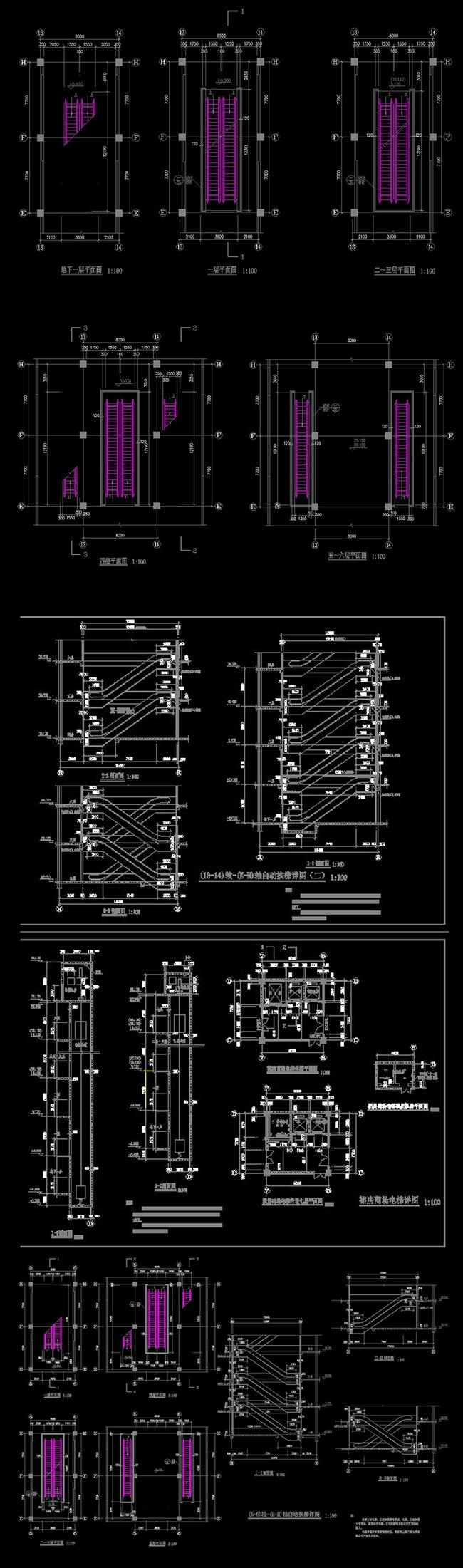 上海三菱电梯楼梯详图