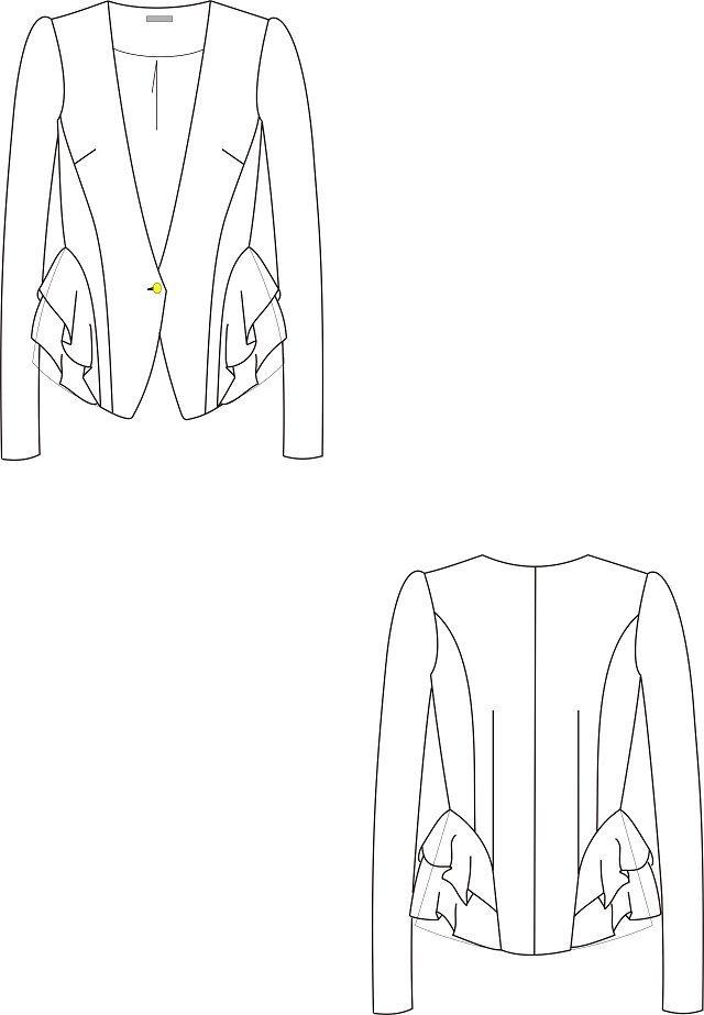 服装设计 女装设计 上装设计 > 长袖外套  下一张> [版权
