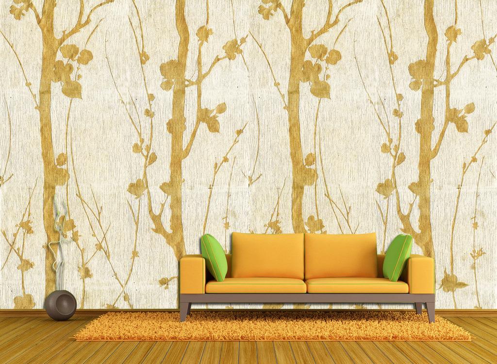 现代简约电视背景墙壁纸设计