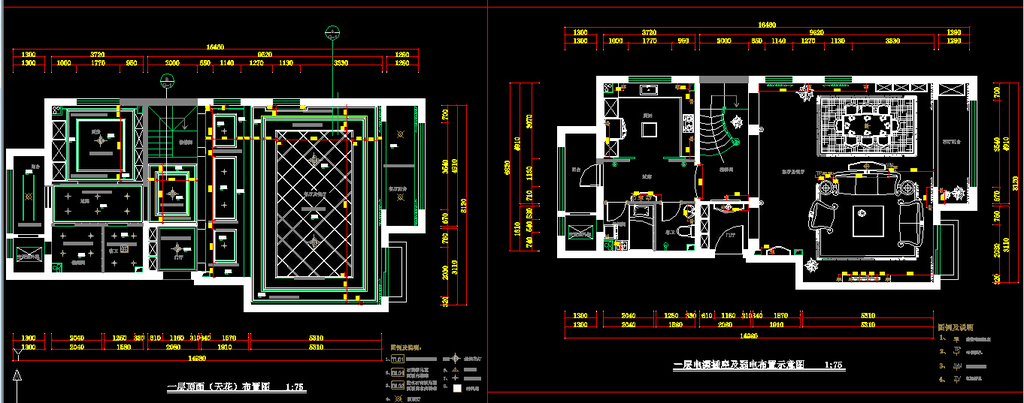 室内装修cad施工图1设计下载
