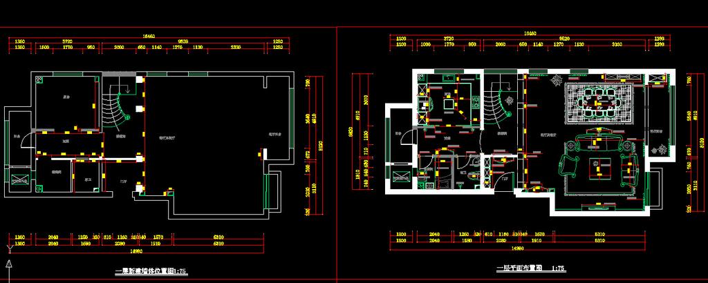 室内装修cad施工图1设计下载图片