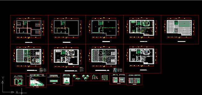 室内装修cad施工图3设计下载模板下载(图片编号:)_cad