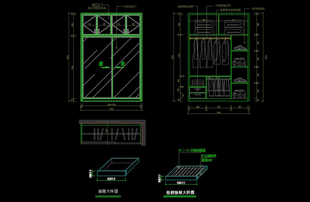 cad衣柜设计图模板下载(图片编号:12179512)