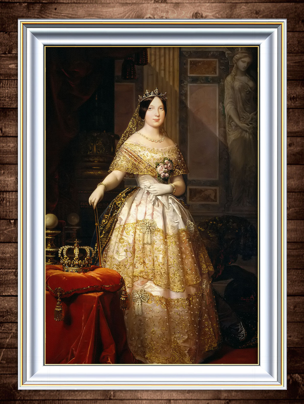 油画 皇冠/[版权图片]女皇与皇冠古典主义油画