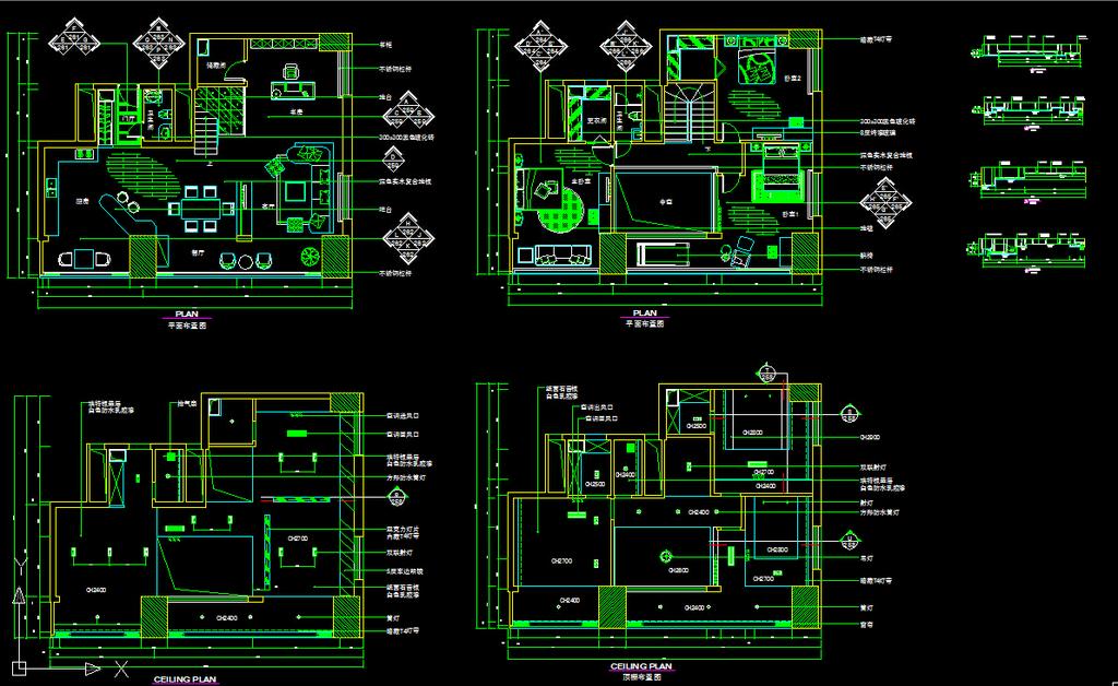 素材 装修 装饰 施工图立面图 剖面图 建筑设计 装修设计 复式楼装修图片