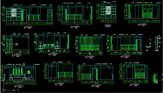 室内设计 cad图库 家装施工cad图纸 > 复式楼cad施工详图下载  下一张