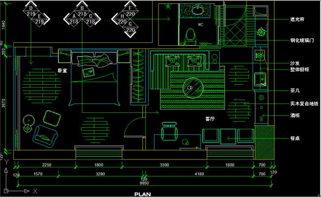 我图网提供精品流行一室一厅CAD图纸设计附带施工材质说明素材下载,作品模板源文件可以编辑替换,设计作品简介: 一室一厅CAD图纸设计附带施工材质说明,,使用软件为 AutoCAD 2004(.dwg) 一室一厅CAD图纸设计附带施工材质说明图片下载 一室一厅平面布置图 一居室平面布置图 家具布置图 CAD室内平面图 单身公寓装修设计 CAD施工套图