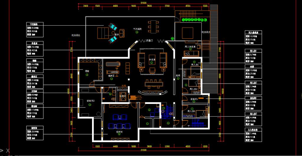 室内装修别墅cad施工图纸1设计