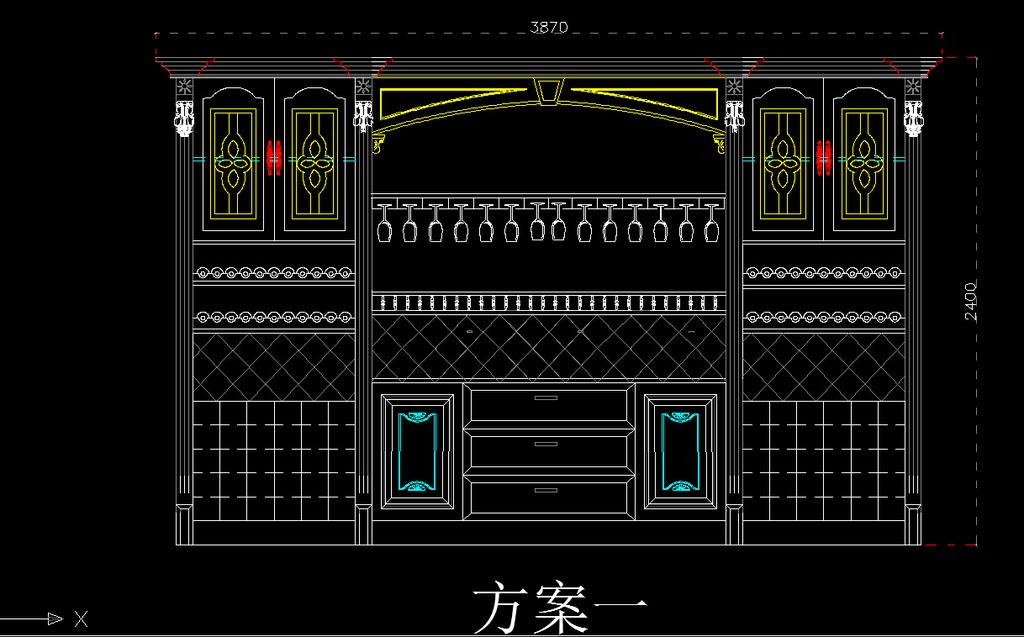 cad墅酒柜吧台模板下载(图片编号:12183731)_室内设计