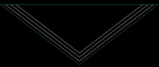 三角形线形壁灯